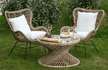 Handcrafted Rattan Full Wing Back Bali Summer Chair MH18839 Ready-To-Buy outdoor furniture garden chairs Millmax interiors UK